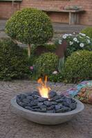 Make fire bowl out of concrete